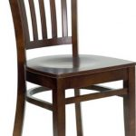 Flash Furniture Walnut Wooden Restaurant ChairXU-DGW0008VRT-WAL-GG