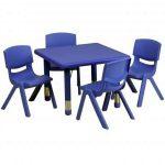 Flash Furniture 24″ Green Table SetYU-YCX-0023-2-SQR-TBL-BLUE-E-GG