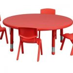 Flash Furniture 45″ Red Table SetYU-YCX-0053-2-ROUND-TBL-GREEN-E-GG