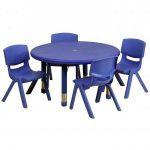 Flash Furniture 33″ Green Table SetYU-YCX-0073-2-ROUND-TBL-BLUE-E-GG