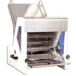 Omcan (FMA) Bread Slicer, 15″W blade, 22″L chute, 5″ max. loaf height, 1″ slice thickness, 1/4 HP, 110V/60/1, CE