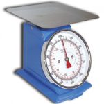 Omcan (FMA) Spring Scale, dial, 50 kg / 110 lb, zero adjust for compensation, enameled steel construction