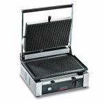 Omcan (FMA) Sandwich Grill, single, 10″ x 14″ grill surface, 570°F thermostat control, stainless steel body, 15 amps, 1.7 kw, ETL and ETL Sanitation