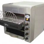 Omcan (FMA) Conveyor Toaster, horizontal, 1-1/2″ opening, 330 slices/hour, stainless steel body, 1.8 kw, 12.5 amps, with 20amp plug, ETL & cETL