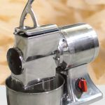 Omcan (FMA) Cheese Grater, electric, stainless steel basin & hopper, 1-1/2 HP