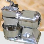 Omcan (FMA) Cheese Grater, electric, microswitch, stainless steel basin & hopper, 1 HP