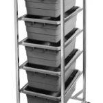Omcan (FMA) 6-Lug Knock Down Lug Rack – Aluminum