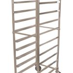 Omcan (FMA) 10-Pan Knock Down Pan Rack, 6″ Spacing – Stainless Steel