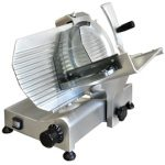 Omcan (FMA) 'Meat Slicer, manual, gravity feed, 10″ dia. carbon steel blade, belt driven blade assembly, .35 hp