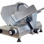 Omcan (FMA) 'Meat Slicer, manual, gravity feed, 12″ dia. carbon steel blade, belt driven blade assembly, 1/2 hp