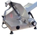 Omcan (FMA 'Meat Slicer, manual, gravity feed, 13″ dia. carbon steel blade, belt driven blade assembly, 1/2 hp