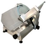 Omcan (FMA) 'Meat Slicer, manual, gravity feed, 14″ dia. carbon steel blade, belt driven blade assembly, 1/2 hp
