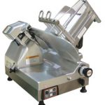 'Omas Meat Slicer, automatic, gravity feed, 12″ dia. carbon steel blade, gear driven blade assembly, 1/2 hp, NSF, ETL