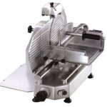 Omcan (FMA) 'Meat Slicer, manual, gravity feed, 14″ dia. carbon steel blade, belt driven blade assembly, 1/2 hp, CE