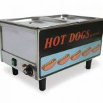 Omcan (FMA) 'Hot Dog Steamer, table top, side by side hot dog steamer/bun warmer, 50 hot dogs & 30 buns capacity, 1.2 kw, ETL & cETL