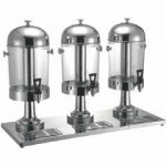 Omcan (FMA) 'Juice Dispenser, triple, 24 quart, silver base
