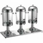 Omcan (FMA) 'Juice Dispenser, triple, 24 quart, silver base