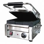 Omcan (FMA) 'Sandwich Grill, single, 9.75″ x 10.5″ grill surface, 572°F thermostat control