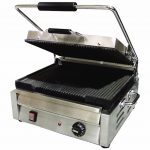 Omcan (FMA) 'Sandwich Grill, single, 11.75″ x 15″ grill surface, 572°F thermostat control, CE, ETL and ETL Sanitation