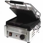 Omcan (FMA) 'Sandwich Grill, single, 9.75″ x 10.5″ grill surface, 572°F thermostat control, 16 amps, 1.8 kw