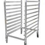 Omcan (FMA) 10-Pan Knock Down Pan Rack, 3″ Spacing – Aluminum
