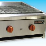 Omcan (FMA) 'Char Rock Broiler, natural gas, 26″ x 24″ x 14.50″, two burner, 76,000 BTU/hr, ETL & cETL