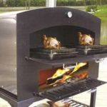 Omcan (FMA) 'Wood Burning Oven, large, chamber size 36.2″ x 15.75″ x 18.5″, outdoor use only