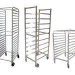 Omcan (FMA) 'Pan Rack, mobile, full size, open sides, (20) welded angle slides, 3″ spacing,