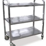 Omcan (FMA) 'Bussing Cart, 3 shelf, 33-1/2″ x 17-1/2″ x 34-1/12″, 17-2/3″ x 13-1/2″ tray size