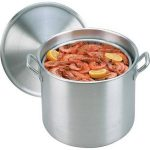 King Kooker 32 Qt. Aluminum Boiling Pot with Lid and Basket