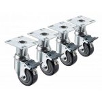 Krowne Metal Heavy Duty 6″-7″ Adj. Height 3-1/2″ x 3-1/2″ Plate Caster