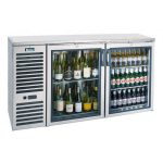 Krowne Metal 60″ Self-Contained 2 Door Back Bar Cooler BS60L-GSS