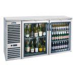 90″ Wide USBB-9028G NEW Adcraft U-Star Back Bar Cooler 28″ Depth Glass Door