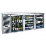 Krowne Metal 84″ Self-Contained 3 Door Back Bar Cooler BS84R-SSB