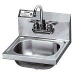 Krowne Metal 16″ Wide Hand Sink with Heavy Duty Faucet