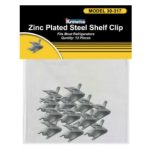 Krowne Metal 12-Pack Snap-In Shelf Support Clips, Stainless Steel