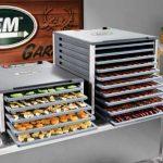 LEM Dehydrator & Slicer Bundle #2 – LEM 10 Tray Countertop Dehydrator w/Digital Timer + LEM 10″ Commercial Grade Meat Slicer