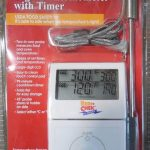 Dual Sensor Digital Thermometer with Probe, Timer & Alarm