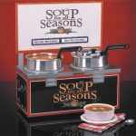NEMCO Soup Merchandiser, Double 4 Qt Well, W/ Header