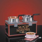 NEMCO Soup Merchandiser, Double 4 Qt Well, W/O Header