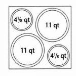 NEMCO Adapter Plate, 2 4 Qt. & 2 11 Qt. Insets