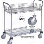 Nexel Chrome 24X30 2 Shelf Utility Cart-Pneumatic Caster