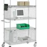 Nexel Chrome 18X48X74 One Enclosure Wire Shelf Unit