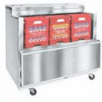 Nor-Lake Open Front Milk Cooler, 48-5/8″ W, drop front, 12 case capacity, heavy duty floor racks, thermometer, stainless steel exterior and interior, locking swivel casters, 1/5 hp, 115v/60/1, 3.1 amps, ENERGY STAR®, UL, C-UL, UL Sanitation