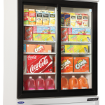 Nor-Lake Refrigerated Merchandiser, 45.7 cubic feet, Two-door, bottom mount compressor, (4) epoxy coated shelves per door, white exterior & interior, sliding glass doors, 1/3 hp, 115v/60/1, cord and plug, NSF, UL, c-UL listed