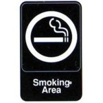 "Royal Industries Sign 6X9 ""Smoking Area"""