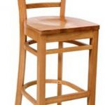 Royal Industries Ladder Back Bar Stool Nat.