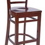 Royal Industries Ladder Back Bar Stool Wal.