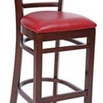 Royal Industries Ladder Back Bar Walnut/Red