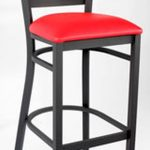 Royal Industries Metal Ladder Back Bar Stool